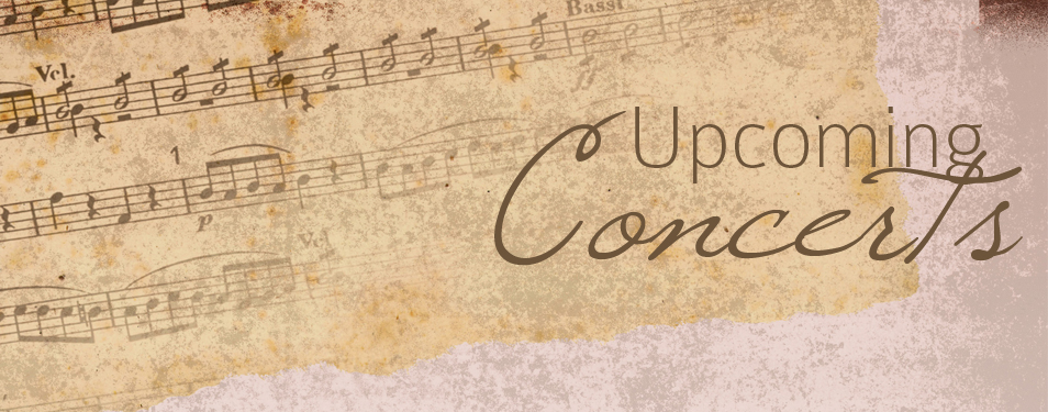 Upcoming Concerts: April 13/14